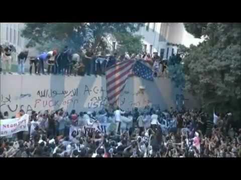 manifestation devant l'ambassade américaine d'EGYPTE 11sept 2012