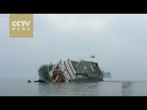 Work underway in South Korea to salvage sunken Sewol ferry