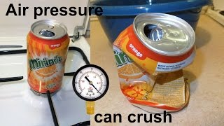 Air pressure can crush (Physics Experiment)