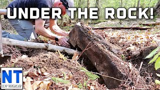 You won't believe what we found under a huge rock metal detecting