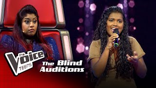Hashini Nethmika | Midule Mal  Blind Auditions | The Voice Teens Sri Lanka
