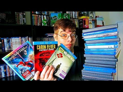 My Blu-Ray Collection Update 8/15/14 ( Blu ray and Dvd Movie Reviews )
