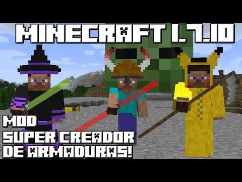 Minecraft 1.7.10 MOD SUPER CREADOR DE ARMADURAS!