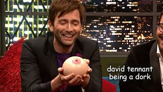 david tennant being a dork for 12 minutes straight
