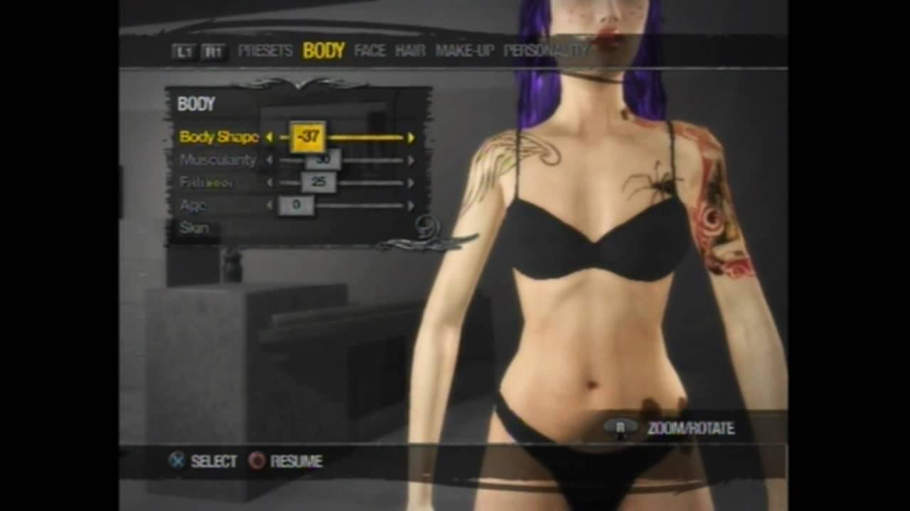 Saints row 2 female customization(PS3) - YouTube