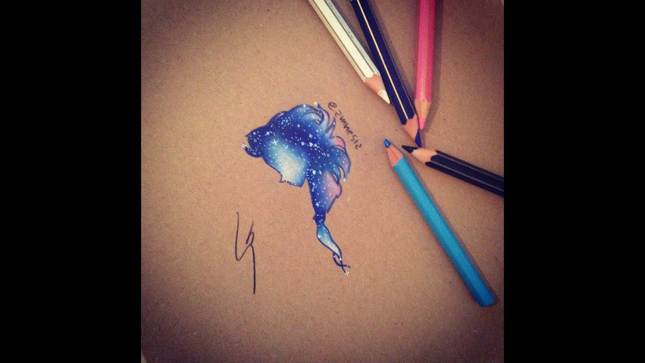 How To Draw Galaxy Elsa Let It Go Demi Lovato Youtube