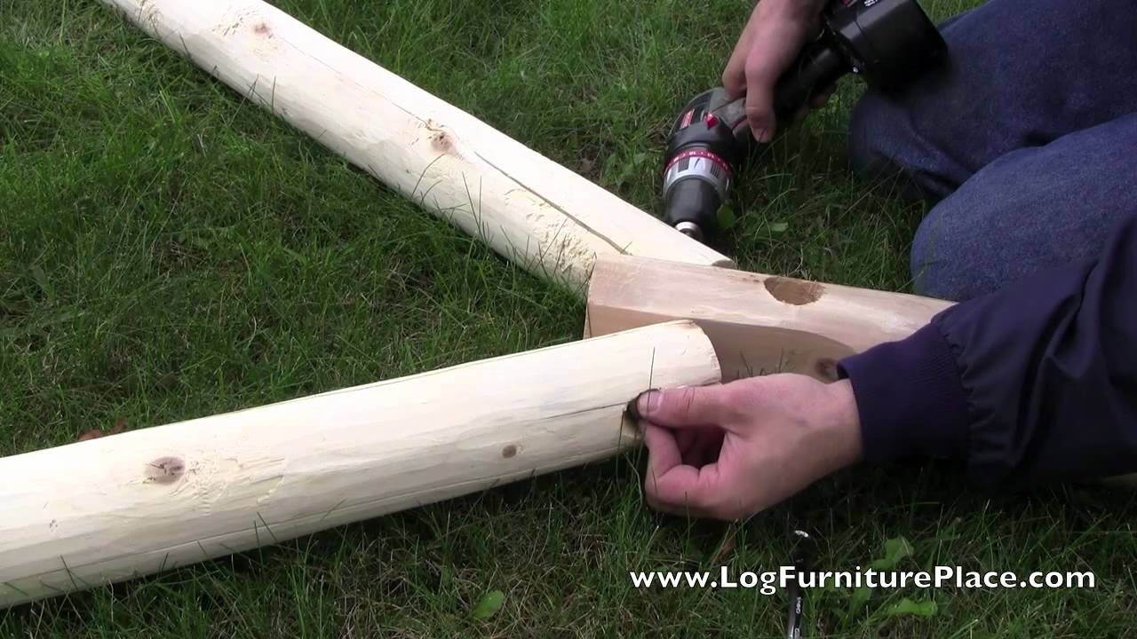 A Frame Assembly With Jhe S Log Swing A Frame How To