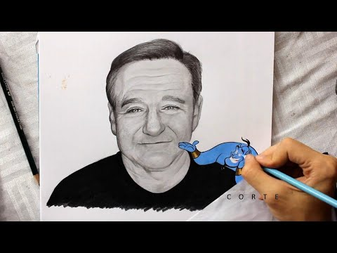 Drawing Robin Williams (Tribute)
