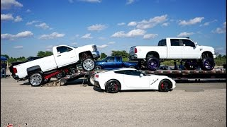 A West Texas truck Meet! Lifted trucks with full powder coated lifts and Forces + dropped trucks!
