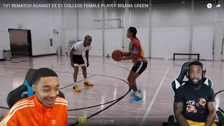 Reacting To FLIGHT LAYUP HIT THE SIDE OF BACKBOARD LOL! 1vs1 D1 COLLEGE FEMALE PLAYER!