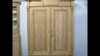 Antique Double Wardrobe c.1892  - Pinefinders Old Pine Furniture Warehouse