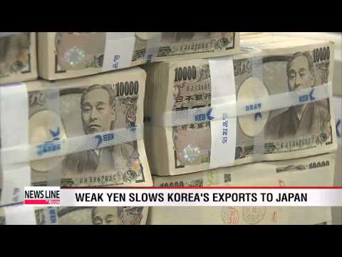 Weak Japanese yen slows Korea's exports to Japan