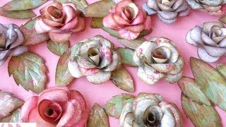 Paper roses and butterflies