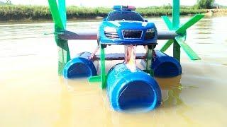 How to make a boat car / Làm đồ chơi xe hơi biết bơi / Win - Bảo Nguyên