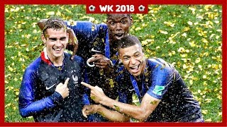 Frankrijk wint WK voetbal na spectaculaire finale
