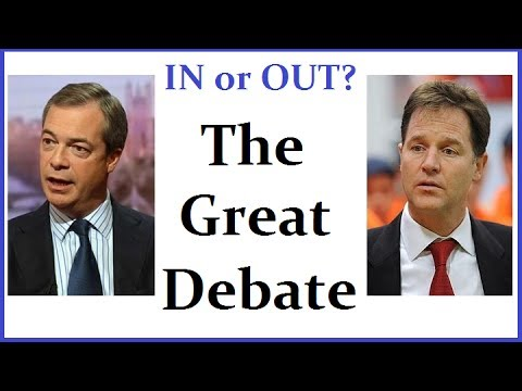 Nigel Farage vs Nick Clegg - The Great Debate