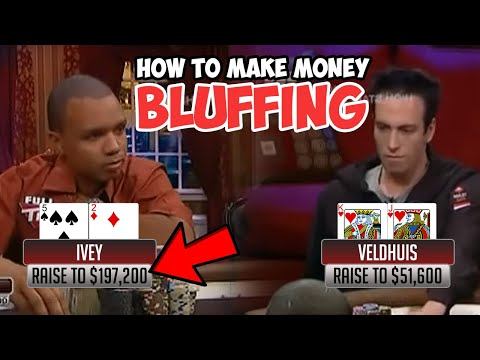 Bluffing Lesson - How to Bluff in poker correctly