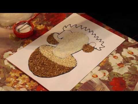 Поделка на тему осень из риса