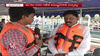 Hussain Sagar Boating In-charge Rajalingam Face To Face Over Ganesh Nimajjanam Arrangements