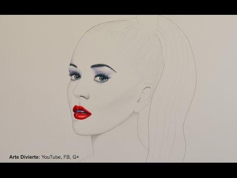 Katy Perry - Cómo hacer un retrato minimalista