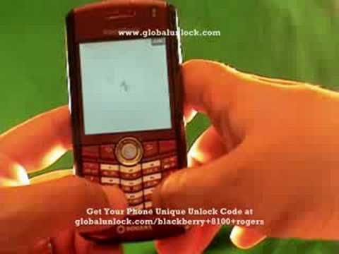 Video: How to unlock Rogers Blackberry 8100 Pearl globalunlock.com