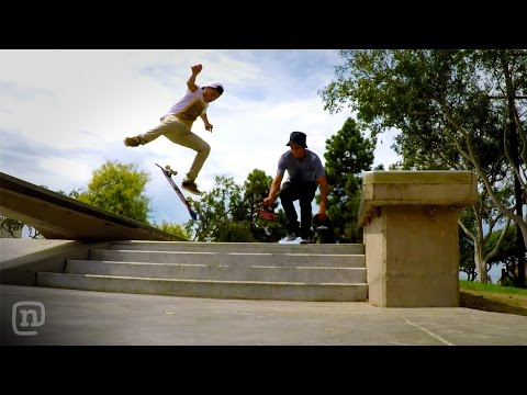 How to Film Skateboarding Down Stairs on NKA
