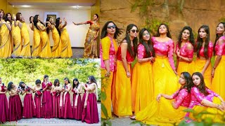 Matching outfits ideas for wedding/bride sister matching Indian outfits ideas