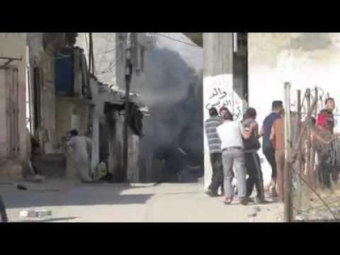 Israeli air strike on a house in Rafah southern Gaza Strip , yebna Refugees Camp.