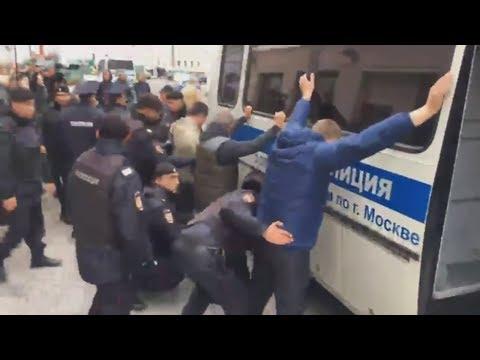 Задержания у офиса Youtube в Москве  протестующих против цензуры.