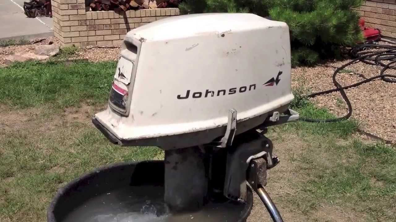 1967 johnson 20hp youtube for 10 hp outboard jet motor