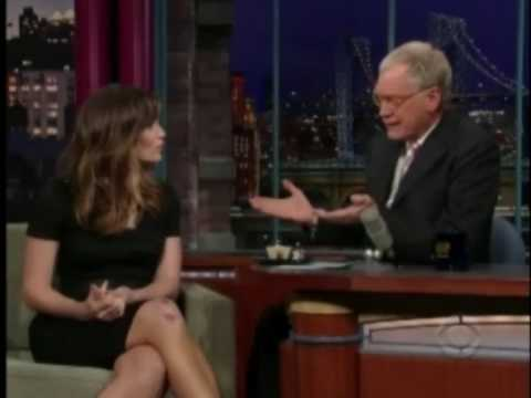 Jennifer Garner with David Letterman 2009 - part 1