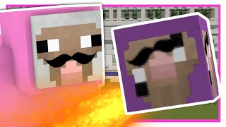 KICKING PURPLE SHEP IN THE FACE?! | Minecraft