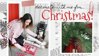 *NEW* DECORATE WITH ME FOR CHRISTMAS! christmas decorations ideas 2018