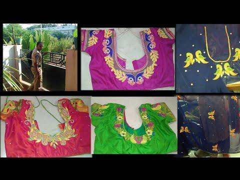 #Diml Monday vlog || Latest maggam and computer work blouse desgins || Kumari Telugu vlogs