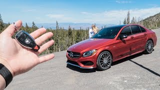 Driving a twin turbo AMG through mountain roads!