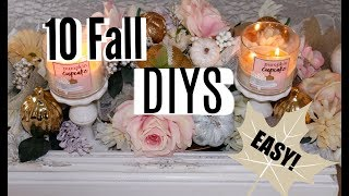 🍁2018 Fall DIY & Decor Challenge / 10 FALL DECOR DIYS / ep. 14🍁