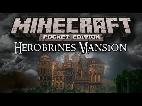 HEROBRINES MANSION - Minecraft PE Map