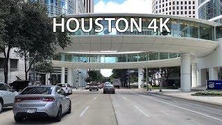 Driving Downtown - Houston 4K - USA