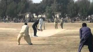 Aziz Kandhro 5 Sixes in 1 over Great Tape ball player.flv