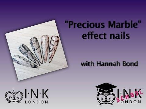 Precious Marble Stone Effect Nails
