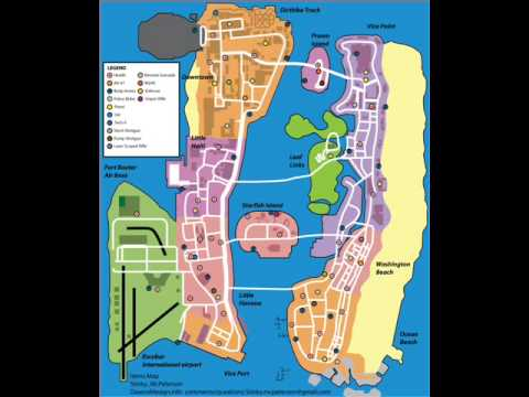 Mapas de GTA: Vice City Stories para PSP