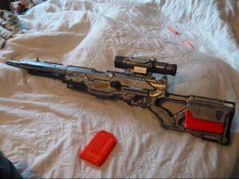 nerf LONGSTRIKE cs-6  GEARS of WAR.wmv