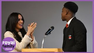'She Really is Beautiful Innit!': Schoolboy Wowed by Duchess of Sussex