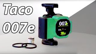 A closer look at the Taco 007e High-Efficiency Circulator Pump