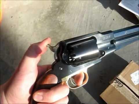 Pietta Remington 1858 New Army .44 revolver unboxing and close-up jeffshootsstuff jeff shoots stuff