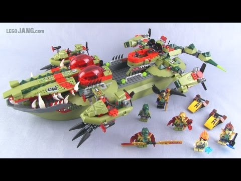 LEGO Legends of Chima Cragger's Command Ship 70006 review!