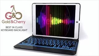 Best Keyboard Case for iPad by Gold and Cherry