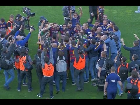 Barcelona con una enorme actuación de Suárez vuelve a quedarse con la Liga Española
