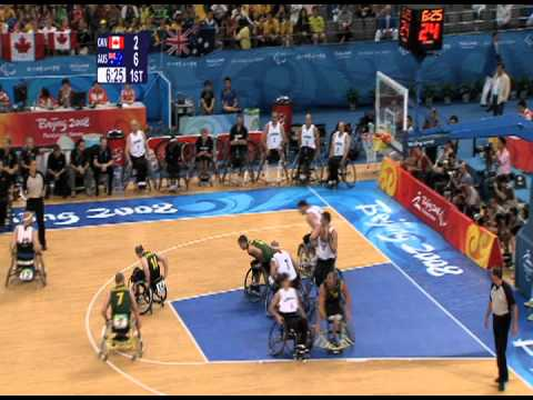 Wheelchair Basketball Final (part 1) Beijing 2008 Paralympic Games