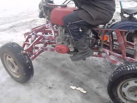 Как сделать квадроцикл из урала своими руками